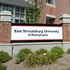 new East Stroudsburg University sign