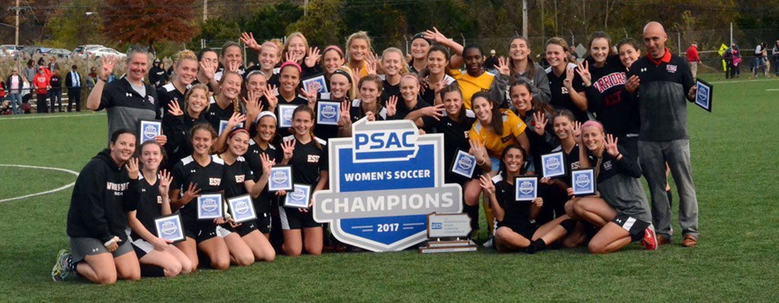 Women's Soccer wins the PSAC championship.