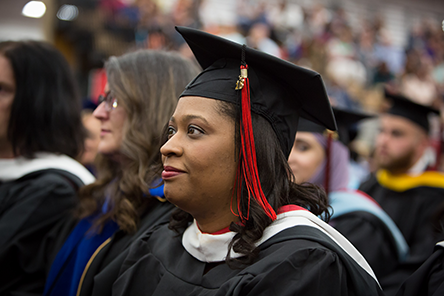 a student at commencement