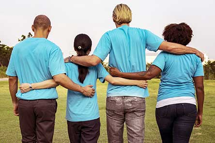 4 people with backs to you