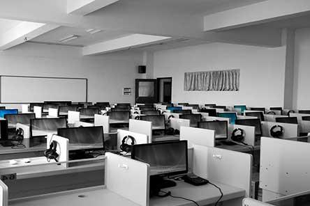 A classroom computer lab