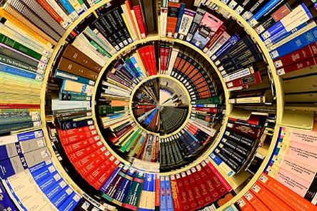 Circular library of books