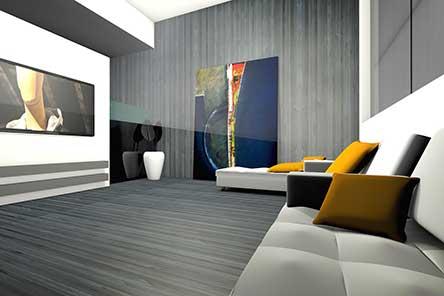 3D model of a living room