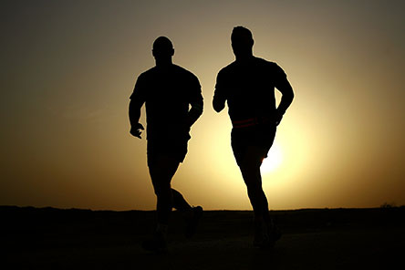 Two runners