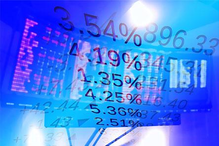 Abstract stock market data