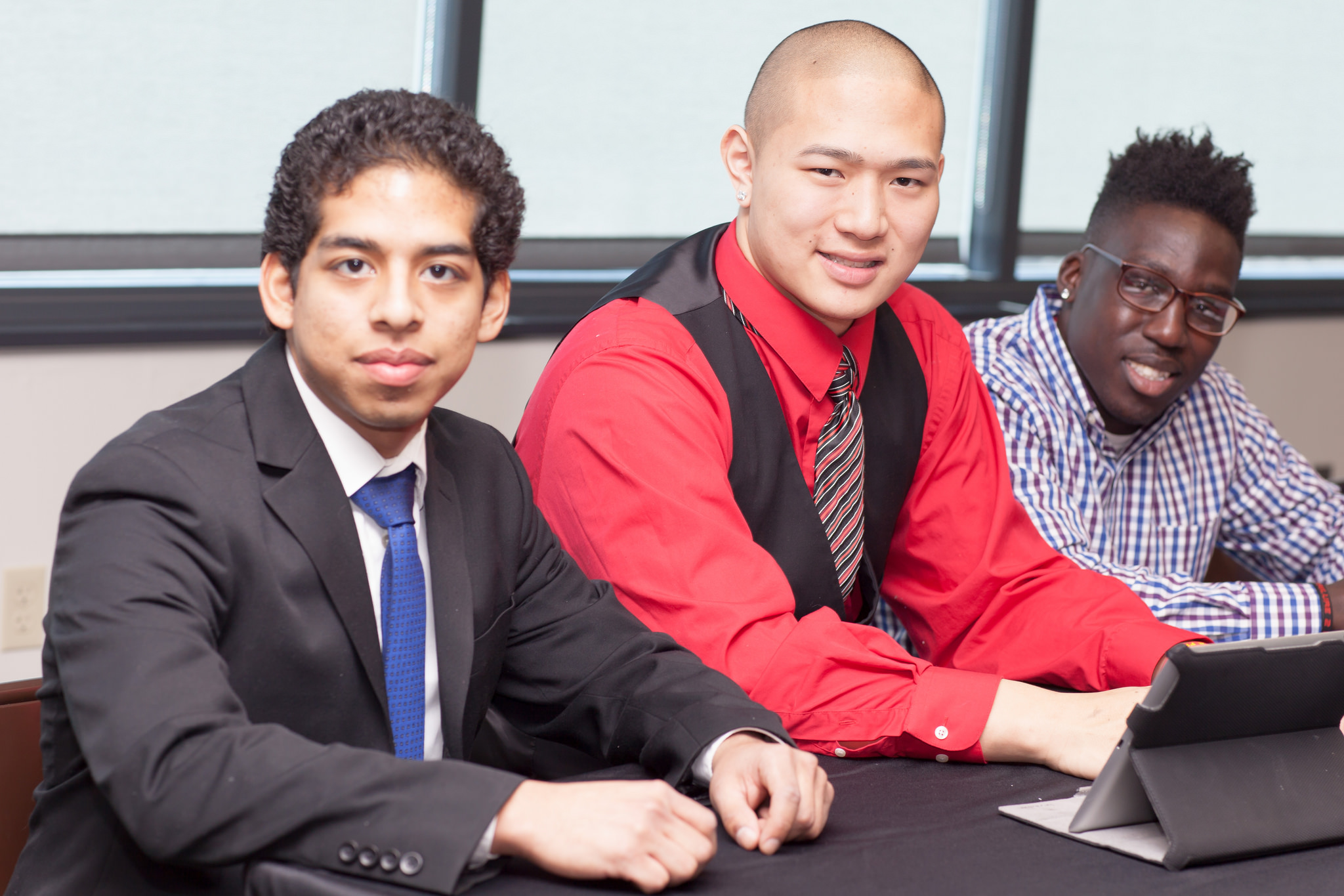 Students at an Execuritive Leadership Speakers Series event