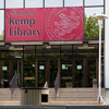 Front entrance of Kemp Library