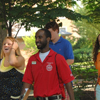 Esu student giveing visitors a tour of the campus