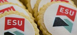 cookies with the new ESU logo