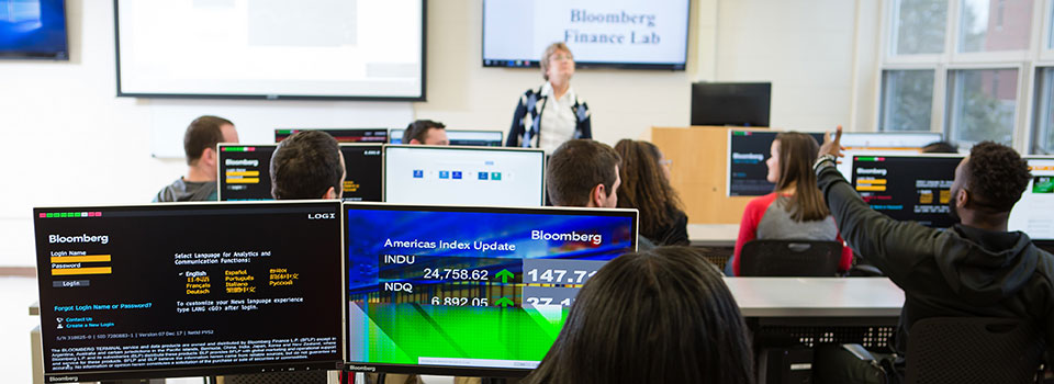 Students sitting in ESU's Bloomberg Lab