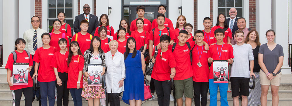 Chinese students visiting ESU for the Sport Science Symposium