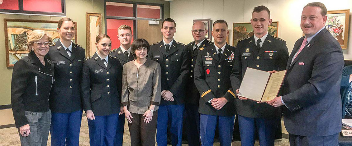 ROTC students recognized by ESU's Council of Trustees