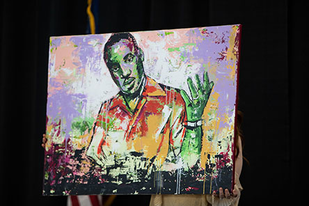 Painting of MLK submitted to the annual art contest