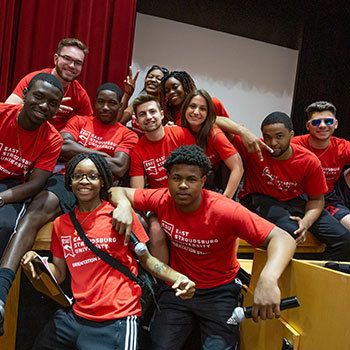 a group of student orientation leaders