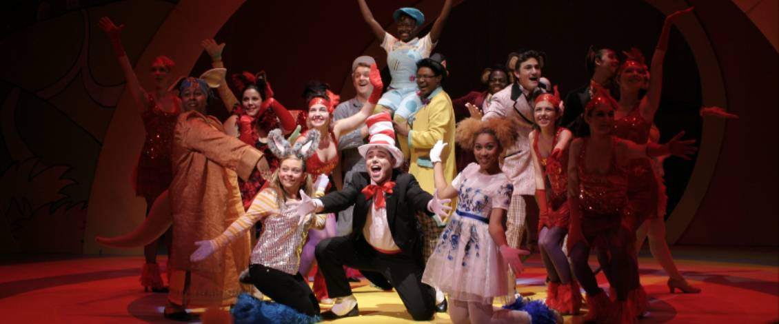 Students performing in Seussical